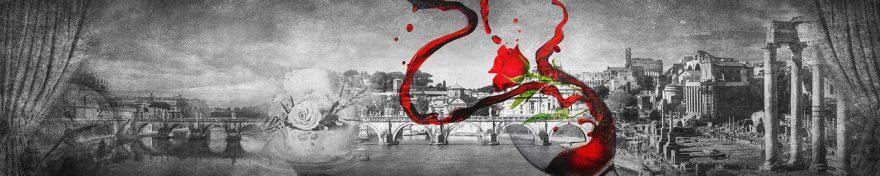 Изображение для стеклянного кухонного фартука, скинали: город, мост, архитектура, винтаж, fartux1010