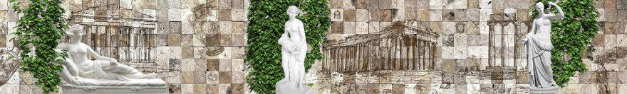 Изображение для стеклянного кухонного фартука, скинали: архитектура, статуя, fartux1015