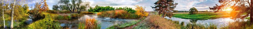 Изображение для стеклянного кухонного фартука, скинали: природа, деревья, лес, река, fartux1034