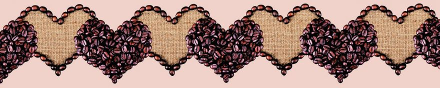 Изображение для стеклянного кухонного фартука, скинали: кофе, сердце, fartux1050