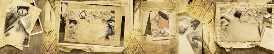 Изображение для стеклянного кухонного фартука, скинали: коллаж, письмо, винтаж, fartux1058