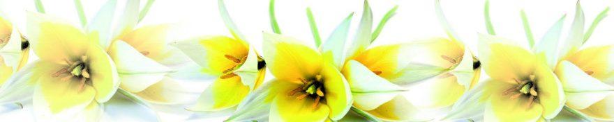 Изображение для стеклянного кухонного фартука, скинали: цветы, лилии, fartux1071