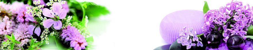 Изображение для стеклянного кухонного фартука, скинали: цветы, сирень, fartux1072