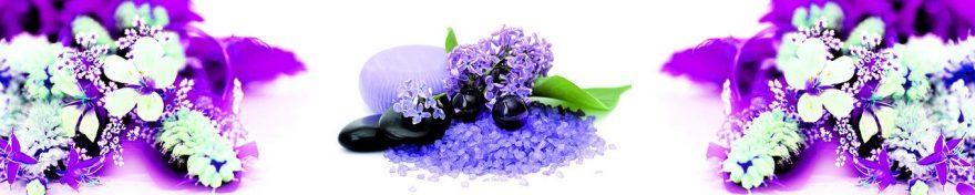 Изображение для стеклянного кухонного фартука, скинали: цветы, сирень, fartux1081