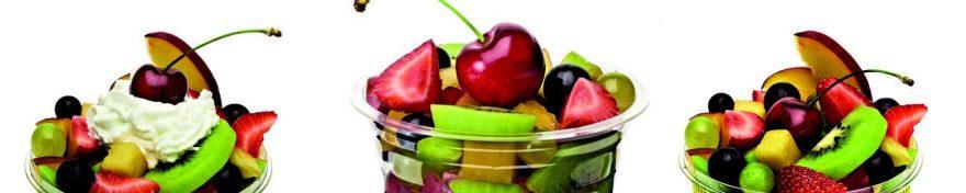 Изображение для стеклянного кухонного фартука, скинали: фрукты, ягоды, банки, fartux1082
