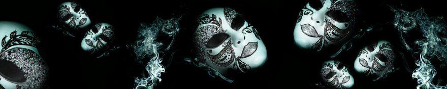 Изображение для стеклянного кухонного фартука, скинали: маска, fartux1085