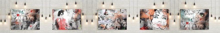 Изображение для стеклянного кухонного фартука, скинали: коллаж, картина, fartux1096