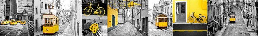 Изображение для стеклянного кухонного фартука, скинали: коллаж, город, fartux1100