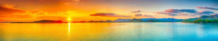 Изображение для стеклянного кухонного фартука, скинали: закат, море, fartux1128