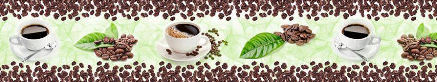 Изображение для стеклянного кухонного фартука, скинали: посуда, кофе, кружка, fartux1150