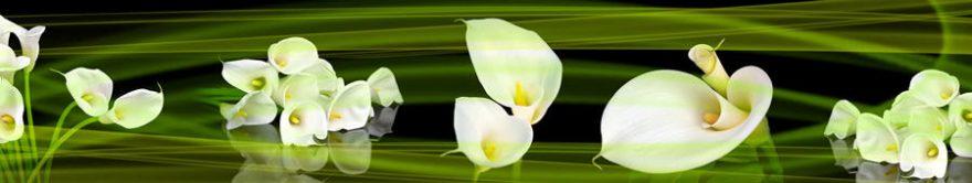 Изображение для стеклянного кухонного фартука, скинали: цветы, каллы, fartux1165