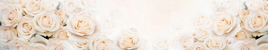 Изображение для стеклянного кухонного фартука, скинали: цветы, розы, fartux1177