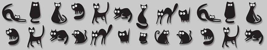 Изображение для стеклянного кухонного фартука, скинали: животные, кошки, fartux1193