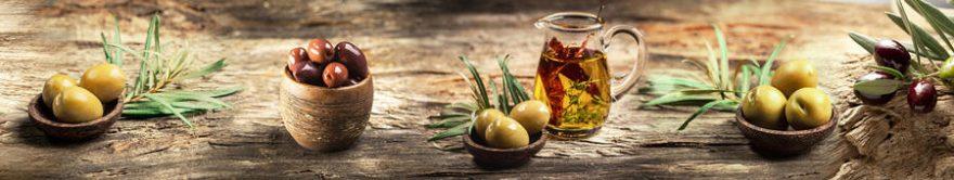 Изображение для стеклянного кухонного фартука, скинали: посуда, оливки, fartux1211