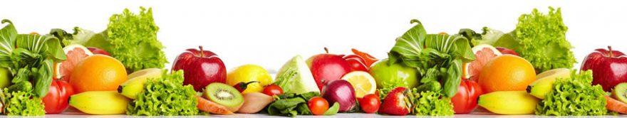 Изображение для стеклянного кухонного фартука, скинали: фрукты, овощи, fartux1240