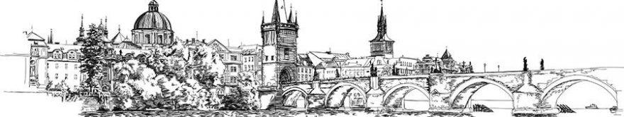 Изображение для стеклянного кухонного фартука, скинали: город, мост, архитектура, fartux1262