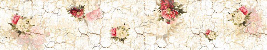 Изображение для стеклянного кухонного фартука, скинали: цветы, текстура, fartux1278