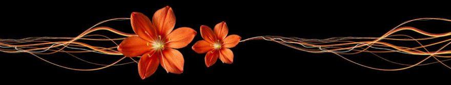 Изображение для стеклянного кухонного фартука, скинали: цветы, абстракция, fartux1287