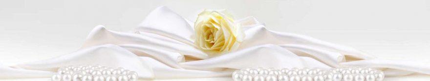 Изображение для стеклянного кухонного фартука, скинали: цветы, розы, жемчуг, ткань, fartux1288