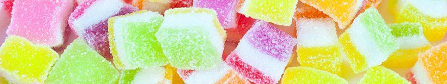 Изображение для стеклянного кухонного фартука, скинали: мармелад, сладости, fartux1297