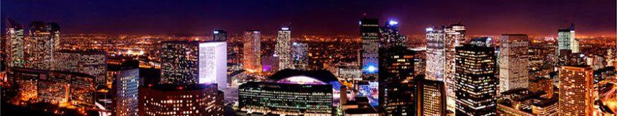 Изображение для стеклянного кухонного фартука, скинали: ночь, город, небоскребы, fartux1304