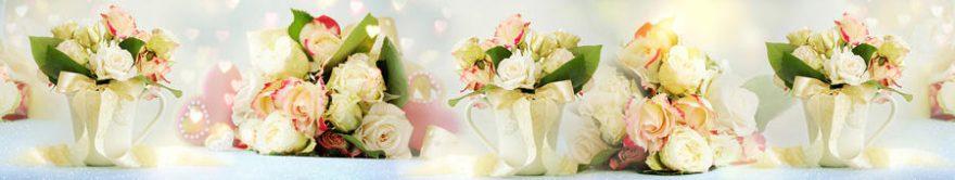 Изображение для стеклянного кухонного фартука, скинали: цветы, розы, fartux1328