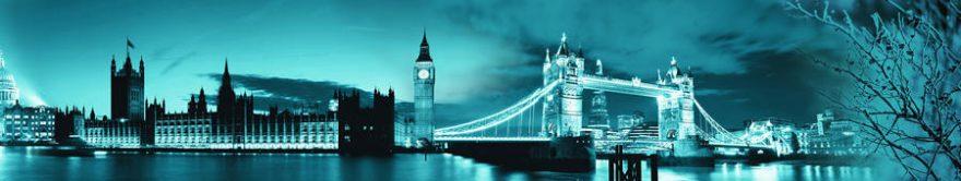 Изображение для стеклянного кухонного фартука, скинали: ночь, город, архитектура, лондон, fartux1358