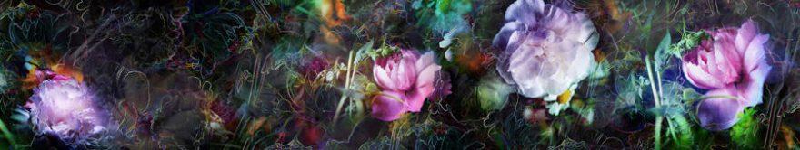 Изображение для стеклянного кухонного фартука, скинали: цветы, абстракция, fartux1367