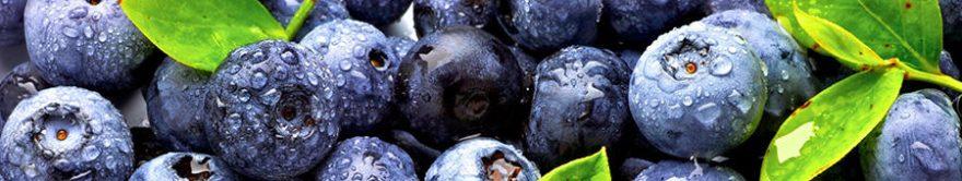 Изображение для стеклянного кухонного фартука, скинали: ягоды, черника, fartux1368