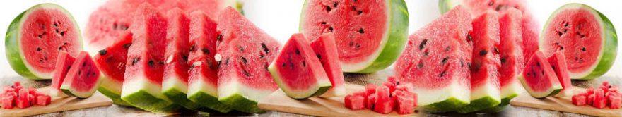 Изображение для стеклянного кухонного фартука, скинали: фрукты, ягоды, арбуз, fartux1381
