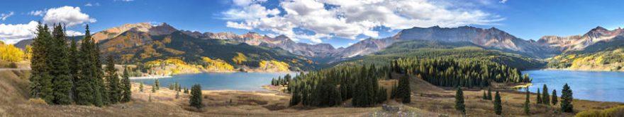 Изображение для стеклянного кухонного фартука, скинали: природа, лес, горы, fartux1383