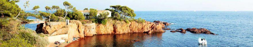 Изображение для стеклянного кухонного фартука, скинали: море, остров, fartux1398