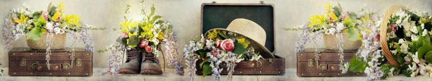 Изображение для стеклянного кухонного фартука, скинали: цветы, fartux1408