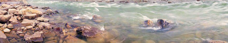 Изображение для стеклянного кухонного фартука, скинали: камни, река, fartux1413