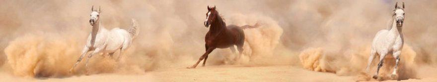 Изображение для стеклянного кухонного фартука, скинали: животные, лошади, fartux1442