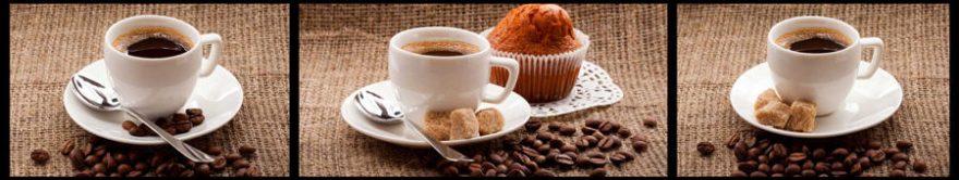 Изображение для стеклянного кухонного фартука, скинали: посуда, коллаж, кофе, кружка, fartux1447