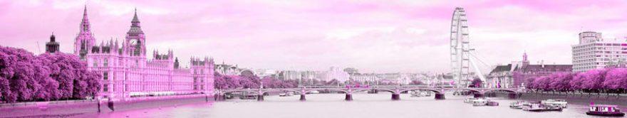 Изображение для стеклянного кухонного фартука, скинали: город, мост, архитектура, fartux1453