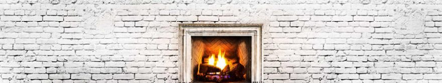 Изображение для стеклянного кухонного фартука, скинали: текстура, кирпич, огонь, fartux1461
