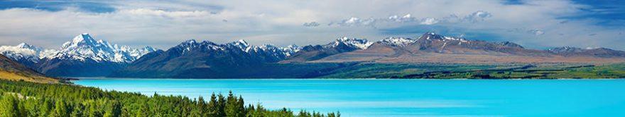 Изображение для стеклянного кухонного фартука, скинали: природа, горы, озеро, fartux1466