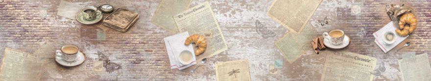 Изображение для стеклянного кухонного фартука, скинали: кружка, винтаж, fartux1469