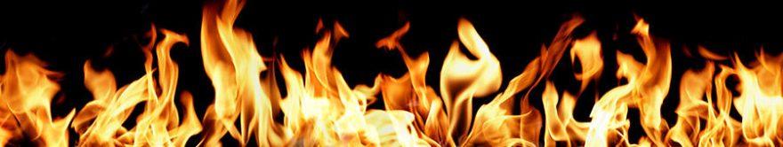 Изображение для стеклянного кухонного фартука, скинали: огонь, fartux1471