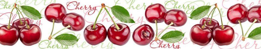 Изображение для стеклянного кухонного фартука, скинали: ягоды, вишня, fartux1472