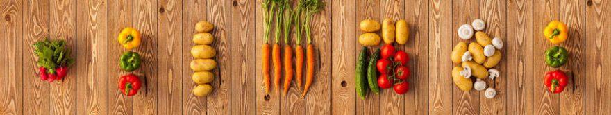 Изображение для стеклянного кухонного фартука, скинали: овощи, fartux1481