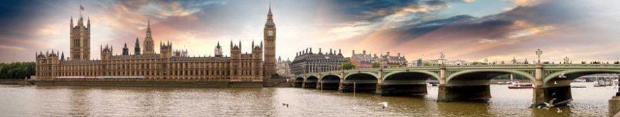 Изображение для стеклянного кухонного фартука, скинали: город, мост, архитектура, лондон, fartux1488