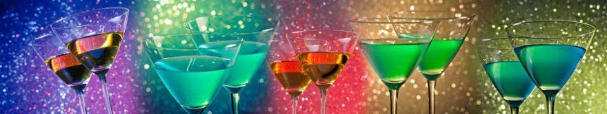 Изображение для стеклянного кухонного фартука, скинали: напитки, бокал, fartux1496
