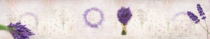 Изображение для стеклянного кухонного фартука, скинали: цветы, лаванда, fartux1502