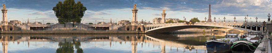 Изображение для стеклянного кухонного фартука, скинали: город, мост, архитектура, fartux1540