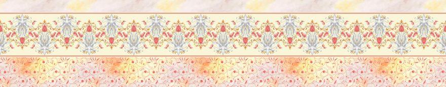 Изображение для стеклянного кухонного фартука, скинали: орнамент, fartux1548