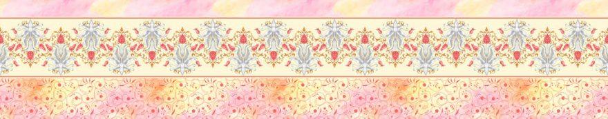 Изображение для стеклянного кухонного фартука, скинали: орнамент, fartux1549
