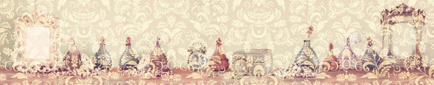Изображение для стеклянного кухонного фартука, скинали: орнамент, винтаж, fartux1564